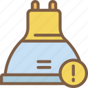 alert, home, lightbulb, smart icon