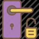 door, home, smart, unlocked icon