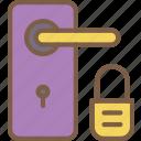 door, home, locked, smart icon