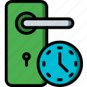 door, home, smart, timers icon