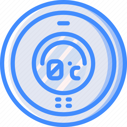 home, smart, thermostat icon