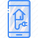 app, home, mobile, monitor, power, smart icon