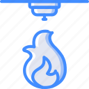 detection, fire, home, smart icon