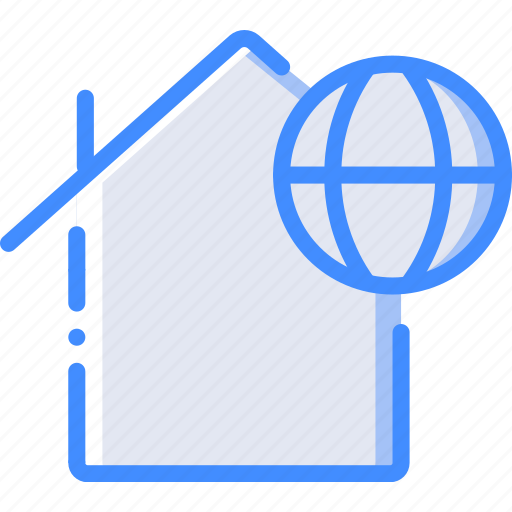 enabled, home, internet, smart icon
