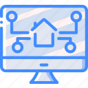 home, monitoring, smart, web icon