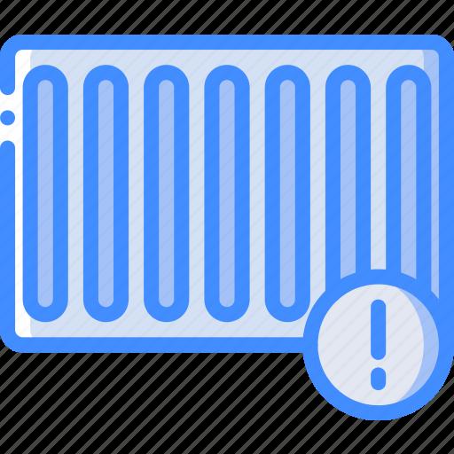 alert, heating, home, smart icon