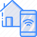 home, remote, smart icon