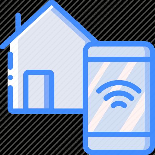 home, remote, smart icon