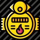 gas, home, monitor, smart, usage icon