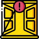 alert, home, open, smart, window icon