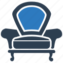 armchair, chair, furniture, luxury icon