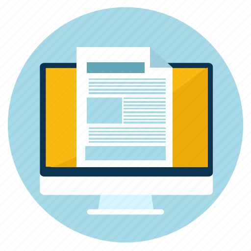 computer, crisp, documents, ecommerce, email, paper, responsive icon