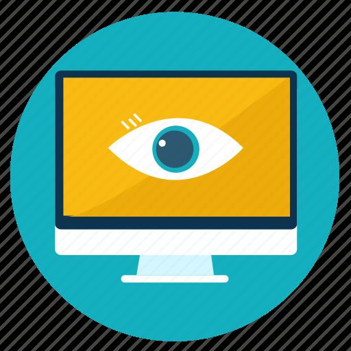 computer, connection, control, creative, eye, responsive, web icon