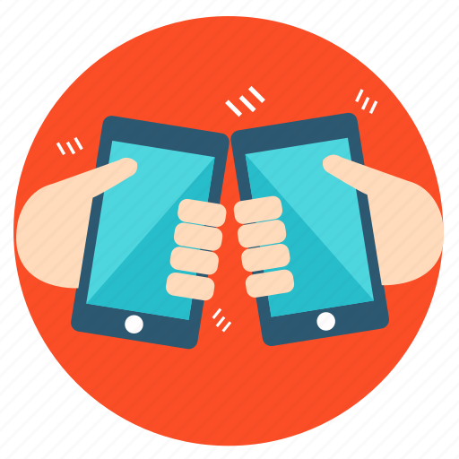 business, connection, device, finance, mobile, phone, shake icon