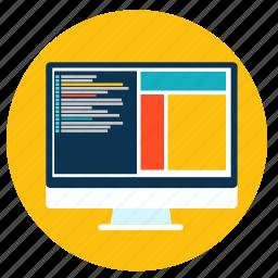 code, computer, css, html, html5, responsive, web icon