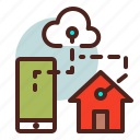 cloud, home, house, remote icon