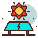 eco, electric, energy, recharge, reuse, solar icon