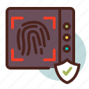 fingerprint, identity, secure icon