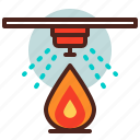 fire, safety, sensor icon