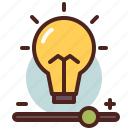 bulb, intensity, light icon