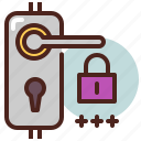 door, key, lock, password, remote icon