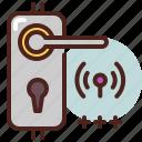 door, key, lock, password, remote, wifi icon