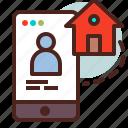 home, house, mobile, remote, smart, user icon