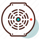 detect, fire, sensor, smoke icon