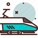 speed, train, transport, travel icon