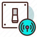 light, remote, switch, wifi icon