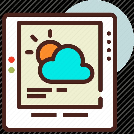 cloud, gadget, sun, weather icon