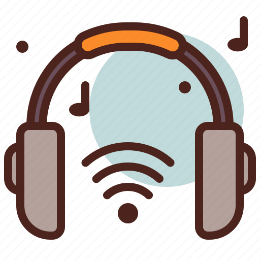 headphones, music, wifi, wireless icon