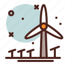 ecology, energy, reusable, wind icon