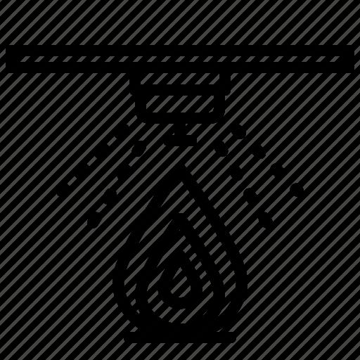 fire, safety, sensor icon