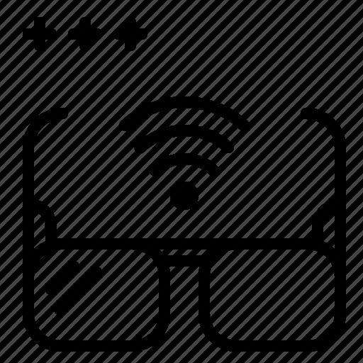 detective, glasses, invisible, wifi icon