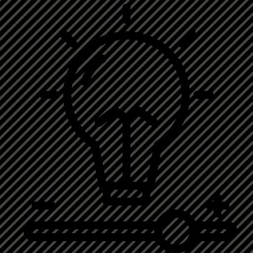 bulb, intensity, light icon