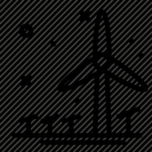 ecology, energy, reusable, wind icon