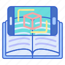 ar, book, technology icon