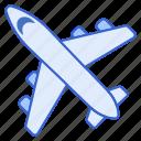 airplane, flight, transportation