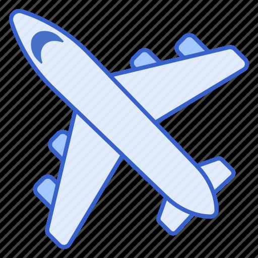 airplane, flight, transportation icon