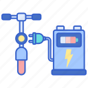 bike, charge, station icon