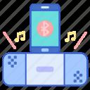 bluetooth, music, speaker icon