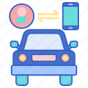 car, connected, vehicle icon