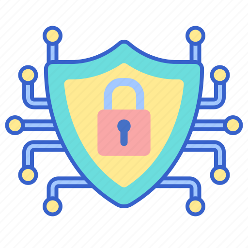 cyber, security, shield icon