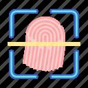 fingerprint, scan, sensor