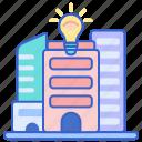 building, city, smart icon