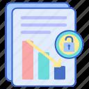 analytics, data, document icon