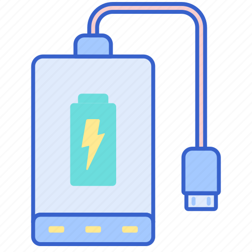 bank, battery, charge, power icon
