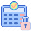 lock, panel, security icon