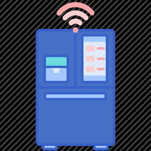 fridge, smart, technology icon